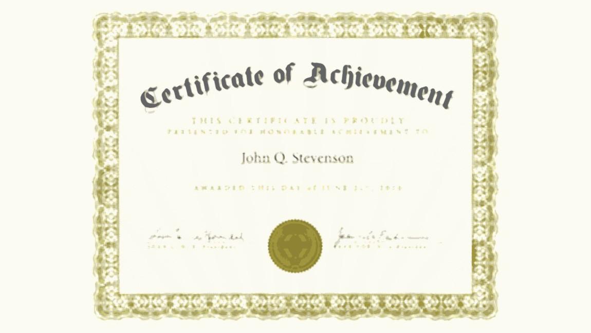 US Certificate